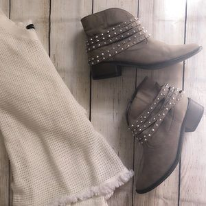 Just fab studded booties